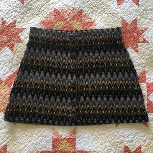 Free People Crochet Mini Skirt in L